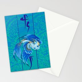 Blue Gold 1 Stationery Cards