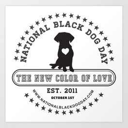 Black Dog Day Official Logo Art Print