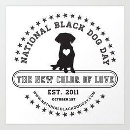 Black Dog Day Official Logo Art Print