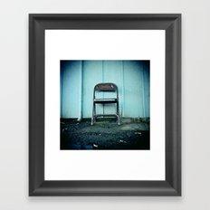 Outdoor seating Framed Art Print