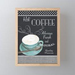 Retro Chalkboard Coffee 1 Framed Mini Art Print