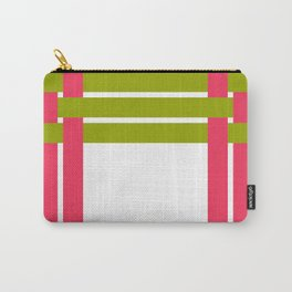 The intertwining pink and green ribbons Carry-All Pouch