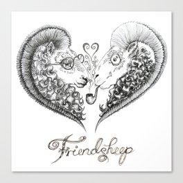 Friendsheep Canvas Print