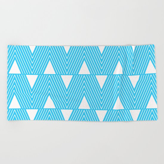 Triangles- Teal Triangle Pattern for hot summer days-Mix & Match Beach Towel