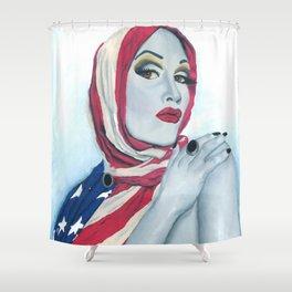 American Ladyboy Shower Curtain