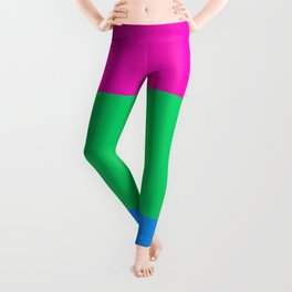 Polysexual Pride Flag Leggings