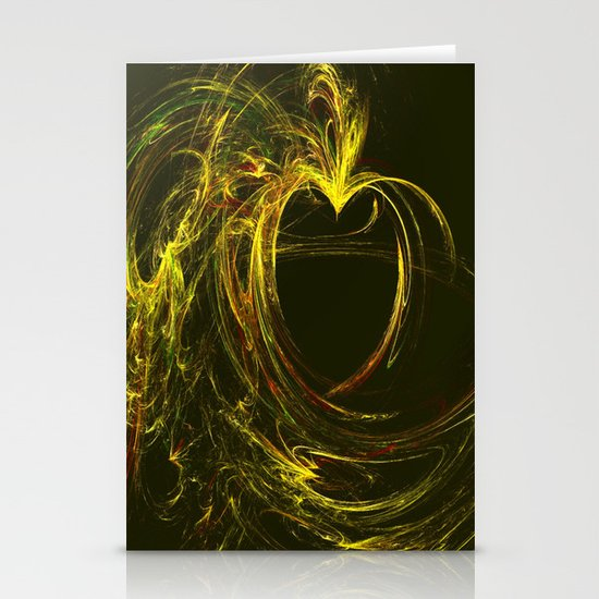 Golden Heart Stationery Cards