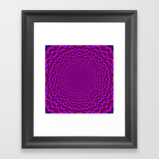 Pulse in Red and Blue Framed Art Print