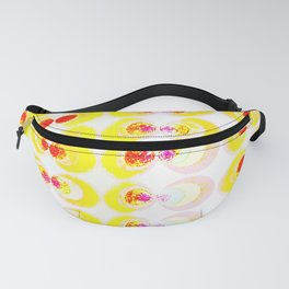 Fabric with yellow circles Fanny Pack