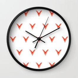 Geometric Foxes Wall Clock