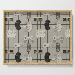 Paper Cut-Out Video Game Controllers Serving Tray
