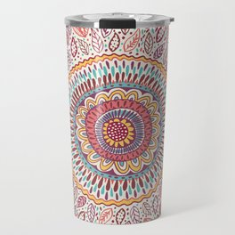 Sunflower Mandala Travel Mug