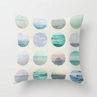 polka dot Throw Pillows featuring Ocean Polka dot  by Pure Nature Photos