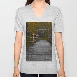 Autumn Bridge Unisex V-Neck