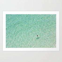 Naked swimming in Paradise Art Print