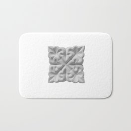 Aisha Bibi carved terracota tile with floral geometric ornament Bath Mat