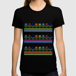 Childish Embroidered Flowers T-shirt