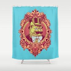 Hipster Mustache Cat Shower Curtain