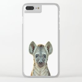 Baby Hyena Clear iPhone Case
