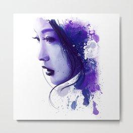 Asian Beauty Metal Print