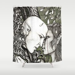 Dread Wolf's lover Shower Curtain