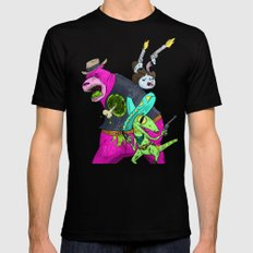 Floating BunnyHead Western Action  X-LARGE Mens Fitted Tee Black