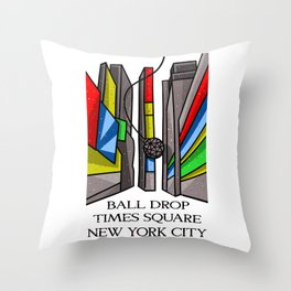 Ball Drop Times Square Throw Pillow