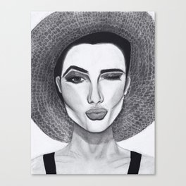 Kissy Winky Face Canvas Print