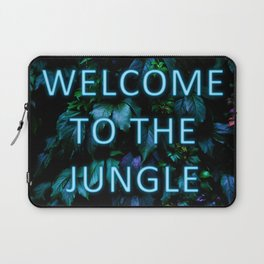 Welcome to the Jungle - Neon Typography Laptop Sleeve