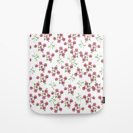 Watercolor roses on white backgroung Tote Bag