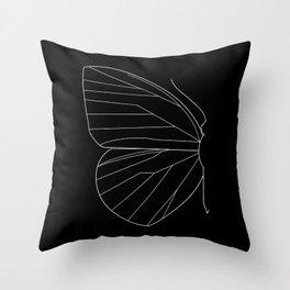Butterfly Minimal Black Throw Pillow