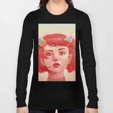 Red girl with horns Long Sleeve T-shirt