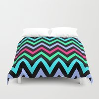 chevron Duvet Covers featuring Chevron by eARTh