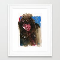neil young Framed Art Prints featuring Young Neil by kenmeyerjr