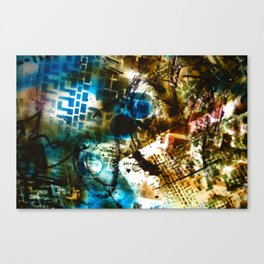 Retrollage 8.. Canvas Print