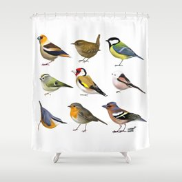 Year of the Bird I. (Europe) Shower Curtain
