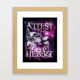 Galaxy Lion Framed Art Print
