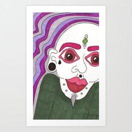 mod man Art Print