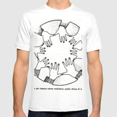 A Psychic Chain Closed MEDIUM Mens Fitted Tee White