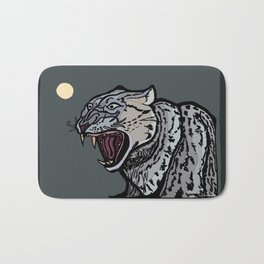 Snow Leopard Growling Bath Mat