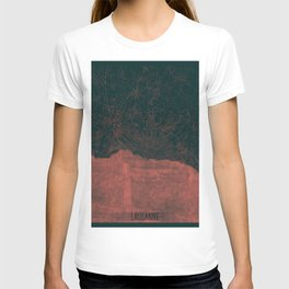 Lausanne Map Red T-shirt