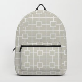 Wolf Gray Square Chain Pattern Backpack