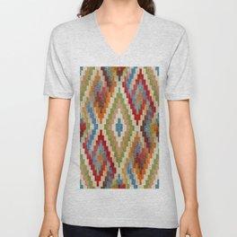 kilim rug pattern Unisex V-Neck