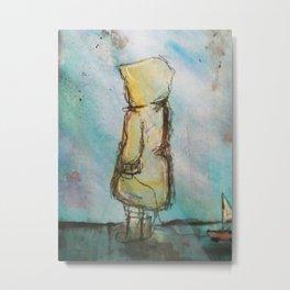 Raincoat Kid Redux Metal Print