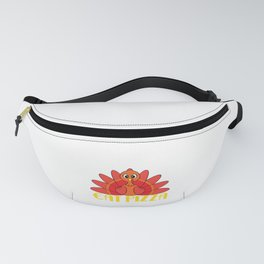 """""""Eat Pizza Funny Thanksgiving Day Gift"""" tee design for both turkey and pizza lover!Makes a cute gift Fanny Pack"""