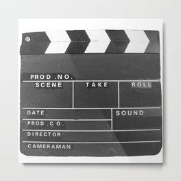 Film Movie Video production Clapper board Metal Print