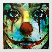 clown Canvas Prints featuring Clown by Ganech joe