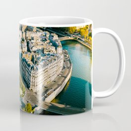 Aerial view of the Notre Dame in Paris Coffee Mug