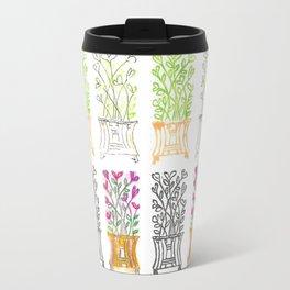 4-Seasons Flowerpots Travel Mug