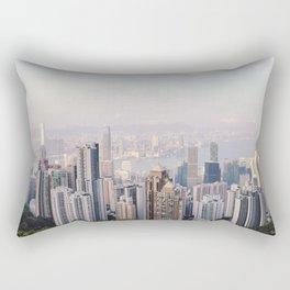 Hong Kong skyline by day Rectangular Pillow